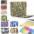 Rubberized Painted Hard Case + Keyboard Cover for Macbook Air Pro Retina 11 13