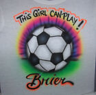 GIRLS SOCCER AIRBRUSHED PERSONALIZED T SHIRT YOUTH AND ADULT SIZES