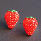 1 pce Fashion Girl Cute Food Fruit Resin Pin Ear Studs Earrings Strawberry ca