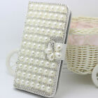 Luxury Wallet Diamonds Bling Bowknot Crystal Flip PU leather Phone Case Cover #C