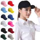Stylish Men Women Plain Baseball Cap Blank Adjustable Solid Hat Pre Curved Visor