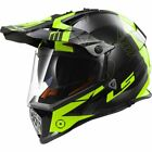 LS2 MX436 Pioneer Trigger Motocross Moto-X MX Crash Helmet Black Hi Vis Yellow