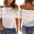 Fashion Summer Women Lace Vest Top Tank Casual Blouse Tops Off Shoulder T-Shirt