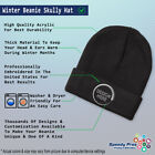 Navy Seal Silver Logo  Embroidery Embroidered Beanie Skully Hat Cap
