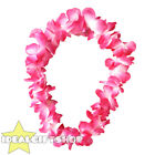 PINK HAWAIIAN LEI FLOWER NECKLACE FANCY DRESS HAWAII TROPICAL LUAU PARTY