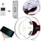 LED Wireless Charger Für LG HTC Sony Apple Samsung Galaxy induktive Ladestation Neu