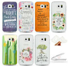 Floral Bible Verse Soft TPU Ultra-Thin Clear Skin Couple For Samsung S6 S7 Edge