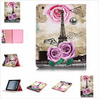 Paris Eiffel Tower PU Leather Stand Cards Slot Cover Case For Various Tablets