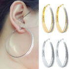 Elegant Women Ladies Rhinestone Crystal Hoop Round Big Earrings Ear Stud Jewelry