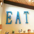 "40"" EAT Rustic Metal Vintage Look Marquee Cafe Restaurant Sign Letters 14 COLORS"