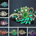 57*87mm large flower brooch women 8 colors crystal party wedding jewelry B1234