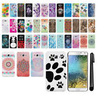 For Samsung Galaxy E5 E500 PATTERN HARD Back Case Phone Cover + Pen
