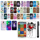 For Motorola Moto X 2nd Gen 2014 PATTERN HARD Back Case Phone Cover + Pen