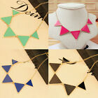 Fashion Women Triangle Pendant Choker Chain Bib Chunky Statement Necklace Hot