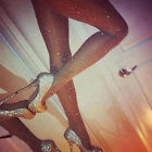 120D New Fashion Crystal Rhinestone Breathable Pantyhose Opaque Tights Stockings