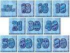 BLUE GLITZ - 16 LUNCH NAPKINS (Birthday Party Tableware/Boy/Male)