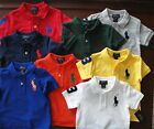 NWT Ralph Lauren Toddler Boys S/S Big Pony Solid Mesh Polo Shirts 2t 3t 4t NEW *