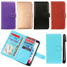 For LG G Vista VS880 G Pro 2 Lite D631 Flip Magnetic Card Wallet Cover Case +Pen