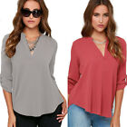 Women Tops Charm T Shirts Long Sleeve Shirt Casual Camisas Chiffon Blouse BD