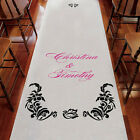 Love Bird Damask Personalized Aisle Runner - 18 Colors - Wedding Ceremony