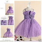 Purples Princess Christmas Wedding Dance Party Flower Girls Dresses SIZE 1-12Y