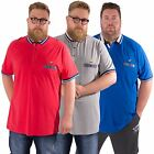 KANGOL MUSE NEW BIG MENS PLUS SIZE SHORT SLEEVE POLO CASUAL T SHIRT TOP 2XL-5XL