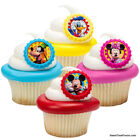 Mickey Minnie Mouse CupCake Cake Topper 12 18 24 Favors Decoration Birthday Face