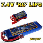 7.4V 120mAh - 5000mAh 2S RC LiPo Battery up to 50C All Sizes + Custom Connector