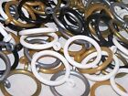 16mm - 19mm Plastic Curtain Pole Rings White Black Gold Silver Grey Brass Bronze