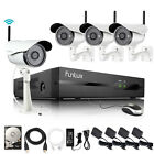 Funlux® 4CH NVR 1280*720P IP Network Outdoor Wireless Camera Security System 1T