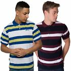 SLAZENGER STRIPED NEW MENS SHORT SLEEVE COLLARED POLO TEE TOP T SHIRT S - XXL