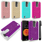 For LG K7 Tribute 5 LS675 MS330/ M1 Luxury HYBRID Bling Case Phone Cover + Pen