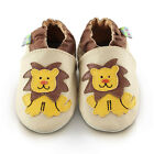Hungry Lion Soft Leather Baby Shoes | Toddler Slippers Boys | Sizes 0 - 3 Years