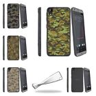 For HTC Desire 530 | Desire 630 Slim Fitted Flexible Clear TPU Case Digital Camo