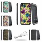 For HTC Desire 530 | Desire 630 Slim Flexible Clear TPU Case Butterfly Flower