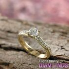 Women Diamond Engagement Ring 14k Solid Gold 1.21 TCW VS/D-F Size 7 Enhanced