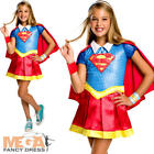 Deluxe Supergirl Girls Fancy Dress DC Comic Book Day Superhero Child Costume New