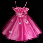 Girl Christmas Wedding Party Bridesmaid Flower Girls Dresses SIZE 2-3-4-5-6-7-8Y