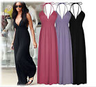 0088 Women Red Event Ball Gown Cocktail Party Halter Long Dresses S/M/L/XL