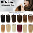 3/4 One Piece Full Head 16'' Luxury Remy Blonde Human Hair Extensions 5 Clips