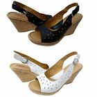Born B.O.C Womens Kacee Slip On Open Toe Buckle Ankle Strap Casual Cork Wedges