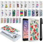 For Alcatel Onetouch Fierce XL 5054 Flint Crystal Bling HYBRID Case Cover + Pen
