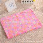 Lovely Warm Pet Mat Paw Print Cat Dog Puppy Fleece Soft Blanket Bed Cushion L