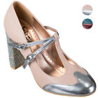 Dancing Days MODERN LOVE Vintage Glam GLITTER T-Strap PUMPS Rockabilly