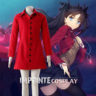 Fate/stay night Rin Tohsaka Red Jacket Cosplay Costume FREE P&P