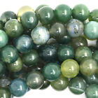 Kyпить Green Moss Agate Round Beads Gemstone 15