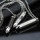 AgentX Mens Army Style Bullet Pendant Necklace Chain Man Fashion Jewellery + Bag