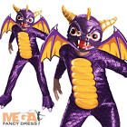 Boys Spyro the Dragon Skylanders Fancy Dress Childs Costume Kids Outfit + Mask