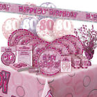 ALTER 80/80TH GEBURTSTAG ROSA GLANZ PARTY REIHE Ballon/Dekoration/Banner/