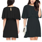 Plus Size US 4-20 Women Summer Short Mini Party Cocktail Chiffon Cocktail Dress